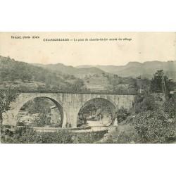 30 CHAMBORIGAUD. Pont du chemin-de-fer entrée du Village 1918