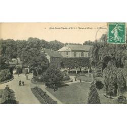 91 IGNY. Entrée de l'Ecole Saint-Nicolas 1909