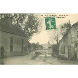 03 CHEVAGNES. Pont interdit Place Saint-Jean