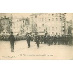 43 LE PUY EN VELAY. Remise des décorations du 86° de ligne avec Militaires 1908