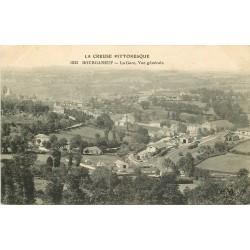 23 BOURGANEUF. La Gare et la Ville tampon Hôpital 1915