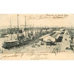 BUENOS AIRES. La Darsena Sud Puerto Madero vers 1903