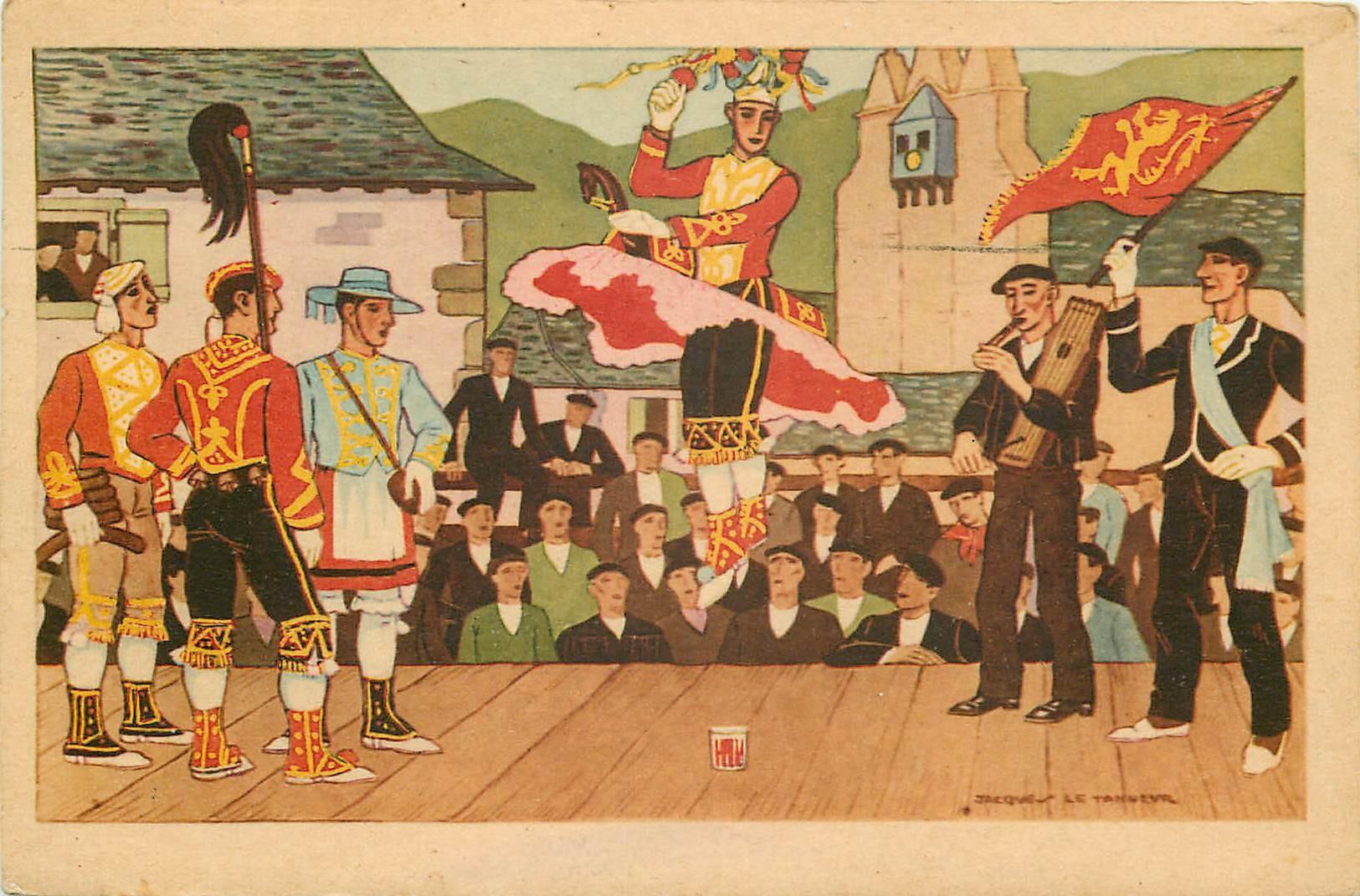 64 ASCAIN. Danse basque d'après Jacques le Tanneur 1947. Destinataire à Bagnolet