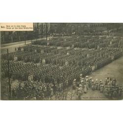 57 METZ. Revue des Militaires allemands et prussiens Place Royale