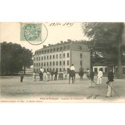 51 VITRY-LE-FRANCOIS. Militaires à la Caserne du Quartier de Cavalerie 1905