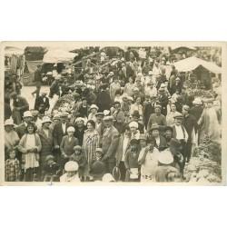 80 AULT ONIVAL. Superbe Photo carte postale du Marché avec énorme animation 1926