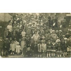 80 ONIVAL-SUR-MER. Superbe et rare Photo carte postale animation rue de la Plage 1926