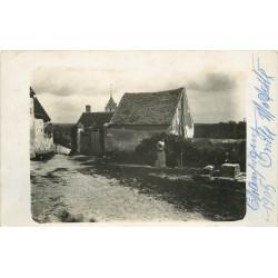 89 CHAMPIGNY-SUR-YONNE. Rare Photo carte postale chez Oncle Modeste 1905 + 2 petites photos cultivateur 1935