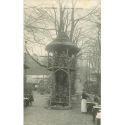 2 x Cpa 92 LE PLESSIS ROBINSON. Restaurant à l'Arbre des Roches et la Tour 1912