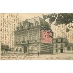 93 BAGNOLET. La Mairie 1905 et les Ecoles derrière