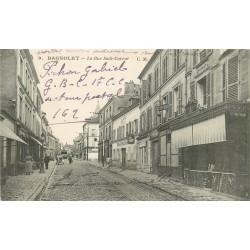 93 BAGNOLET. La Rue Sadi Carnot 1918 au loin l'Eglise Saint Leu Saint Gilles
