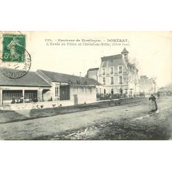 03 DOMERAT. Ecole de Filles et Hôtel de Ville 1912