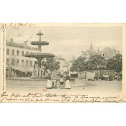 69 VILLEFRANCHE-SUR-SAONE. Roulottes sur Place du Promenoir 1904