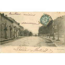 71 TOURNUS. Diligence Avenue de la Gare 1903