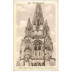 carte postale ancienne 02 SOISSONS. Abbaye Saint-Jean des Vignes. Portail et Flèche