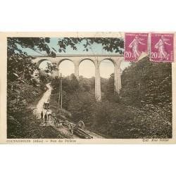03 COUTANSOUZE. Attelage pour troncs d'arbres près du Pont des Périères 1935