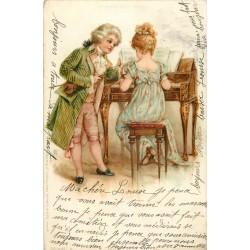 ENFANTS. Jeunes musiciens au clavecin 1903