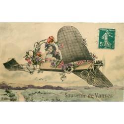 92 VANVES. Souvenir en Aéroplane 1910