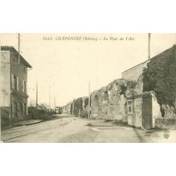 69 CHAPONOST. Le Plat de l'Air avec Train Tramway 1914