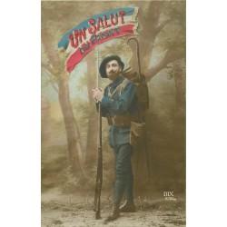 GUERRE SOLDATS MILITAIRES POILUS. Chasseur Alpin au Front 1915
