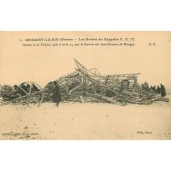 55 BRABANT-LE-ROI. Les Restes du Zeppelin abattu en 1916