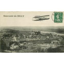03 BILLY. Aéroplane sur la Ville 1914