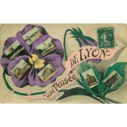 69 LYON. Une Pensée avec multivues 1908
