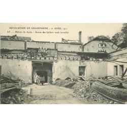 51 AY EN CHAMPAGNE. Révolution en Champagne 1911 Maison de Ayala. Entrée des Celliers incendiés