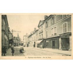93 EPINAY-SUR-SEINE. Tapissier rue de Paris 1914
