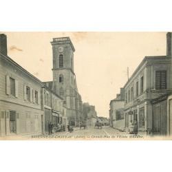 10 BRIENNE-LE-CHATEAU. Ecole Militaire sur Grande-Rue 1915