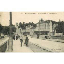 94 BRY-SUR-MARNE. Entrée du Pays et Place Daguerre 1916