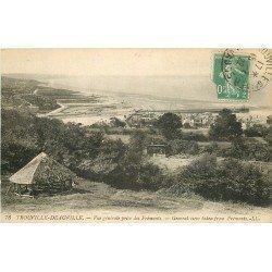 carte postale ancienne 14 TROUVILLE. DEAUVILLE. Vue des Frémonts 1922