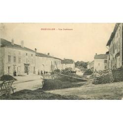 54 OGEVILLER. Vue intérieure du Village animée 1915