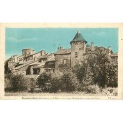 24 BUSSIERE-BADIL. Eglise et vieux Château 1948