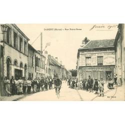 51 DAMERY. Facteur à vélo devant la Poste Rue Notre Dame 1916