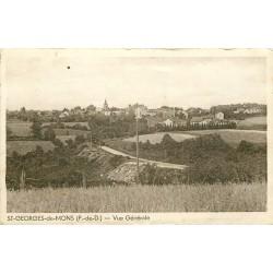 63 SAINT-GEORGES-DE-MONS. Vue du Village 1942