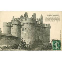 79 ARGENTON-CHATEAU. Attelage au Château de l'Ebaupinaye 1909