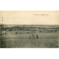 60 CATENOY. Vue générale avec Paysans 1918