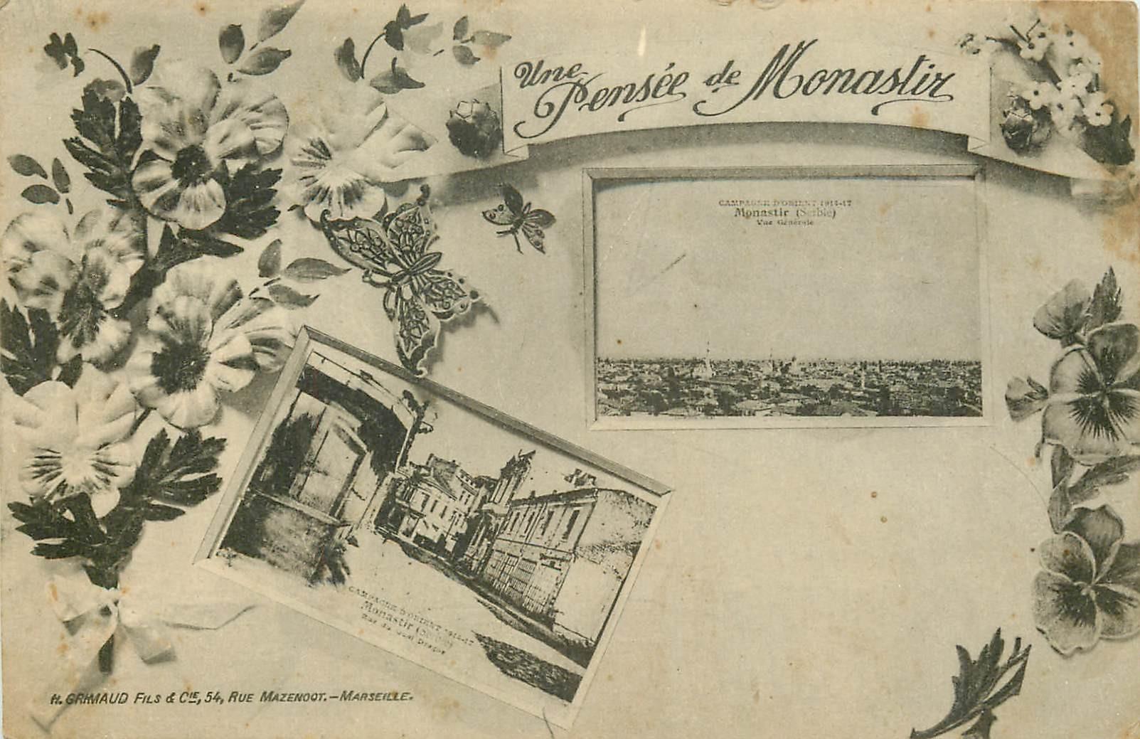GRECE TURQUIE. Campagne d'Orient à Monastir Serbie 1918