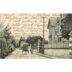 24 RIBERAC. Attelage pour livraison du pain Avenue de la Charouffie 1921