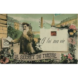 Le Secret du Timbre. A toi ma vie, lettre et boîte aux lettres 1908