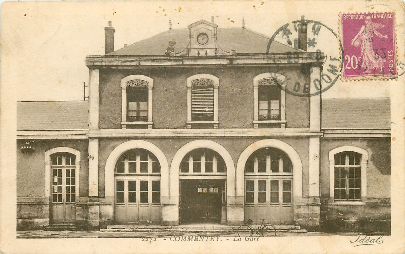 03 COMMENTRY. La Gare 1933