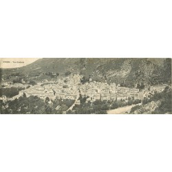 26 NYONS. Carte panoramique double sur la Ville 1915