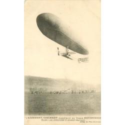 """Le Ballon Saucisse dirigeable """" Adjudant Vincent """" en tissu Ateliers Clément-Bayard"""