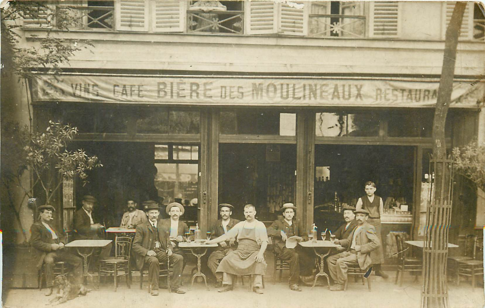 Paris 15. Rare Photo Cpa Café Restaurant SALAGNAC au 6 Avenue Félix Faure