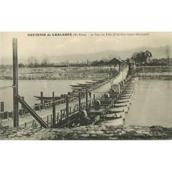 68 CHALAMPE. Le Pont sur barques militaires du Rhin 1936