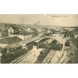 25 MONTBELIARD. Train et locomotive dans la Gare