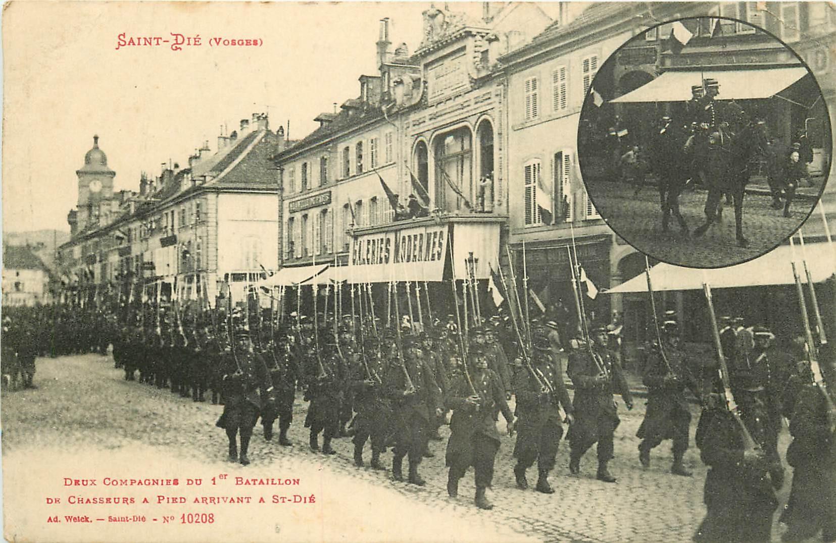88 SAINT-DIE. Deux Compagnieq bataillon Chasseurs à Pied 1915