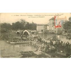 34 SAINT-THIBERY. Construction d'un Pont de chevalet par le 2° Génie