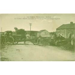12 CAMP DE LARZAC. Artillerie Tracteur à Chenille remorquant un canon